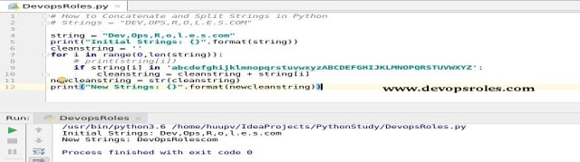 How to Concatenate and Split Strings in Python - DevopsRoles com