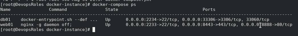 Docker compose command