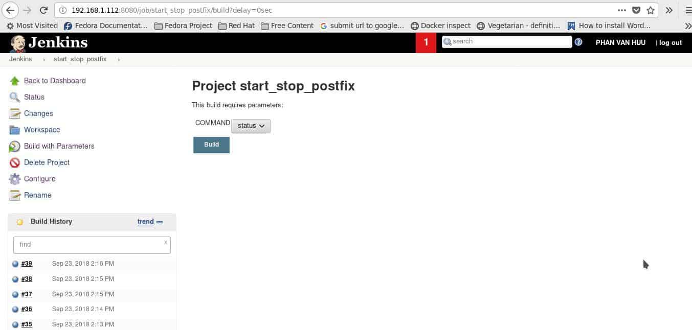 Jenkins how to start service Postfix mail server 04