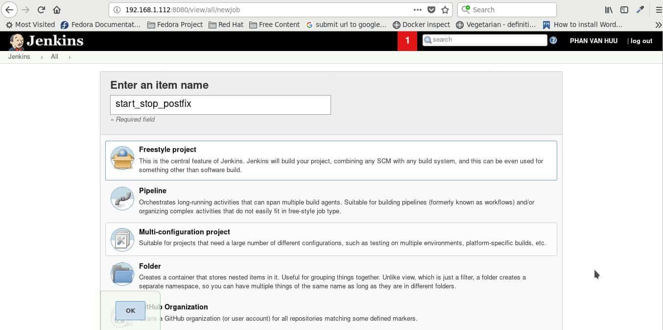 Jenkins how to start service Postfix mail server