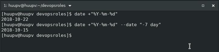 Linux shell script tips date ago