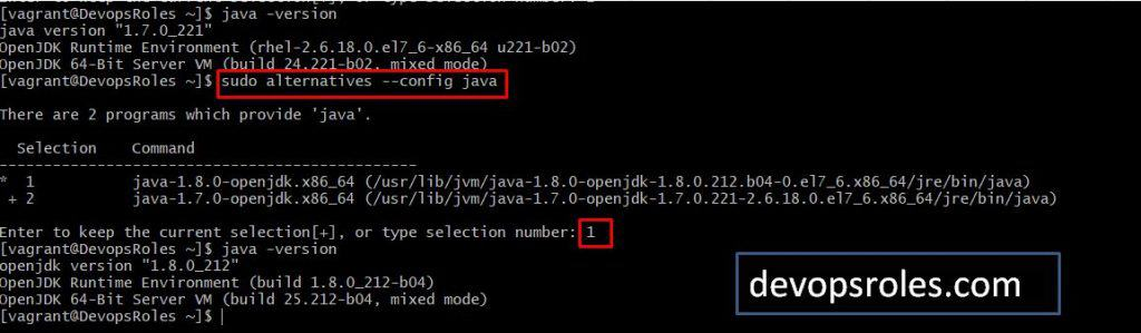 How to switch JDK 7 to JDK 8